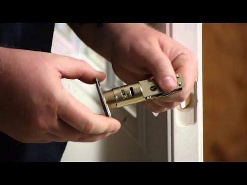 How to Replace an Exterior Door Knob Lock Set