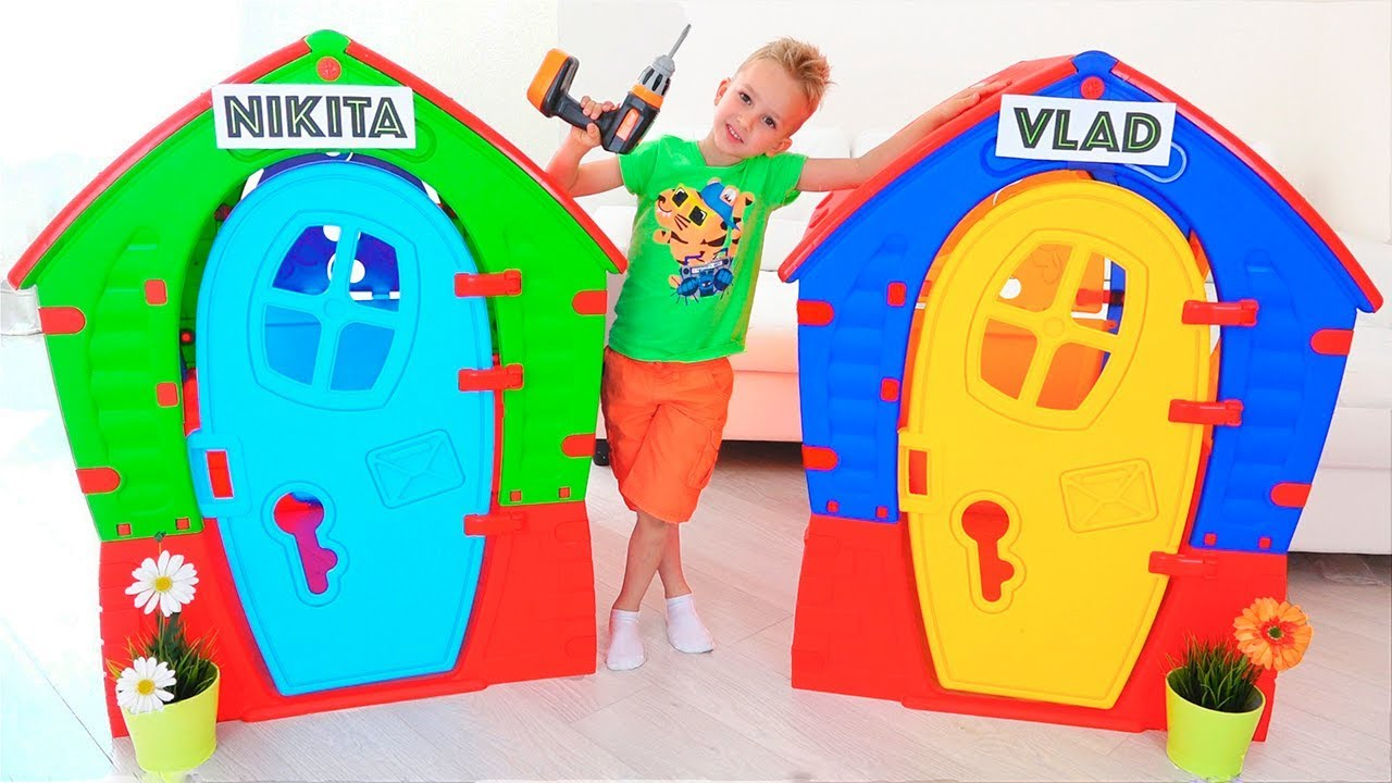 Download Nikita Play with Balls | Kids ride on toy cars and play with Mom