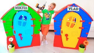 Nikita Play With Balls   Kids Ride On Toy Cars And Play With Mom
