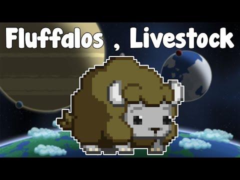 Fluffalos! NEW GLORIOUS LIVESTOCK! STARDEW TIME! - Starbound Guide Nightly - GullofDoom