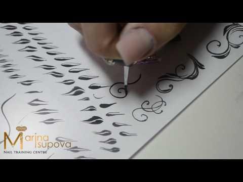 Тренировочные карты для росписи ногтей вензеля распечатать