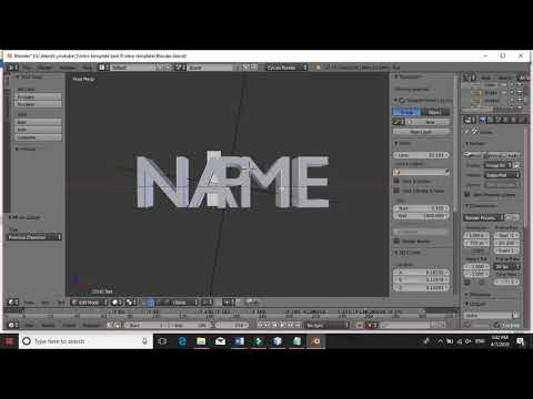 Blender Intro Template #1 How To Edit Tutorial