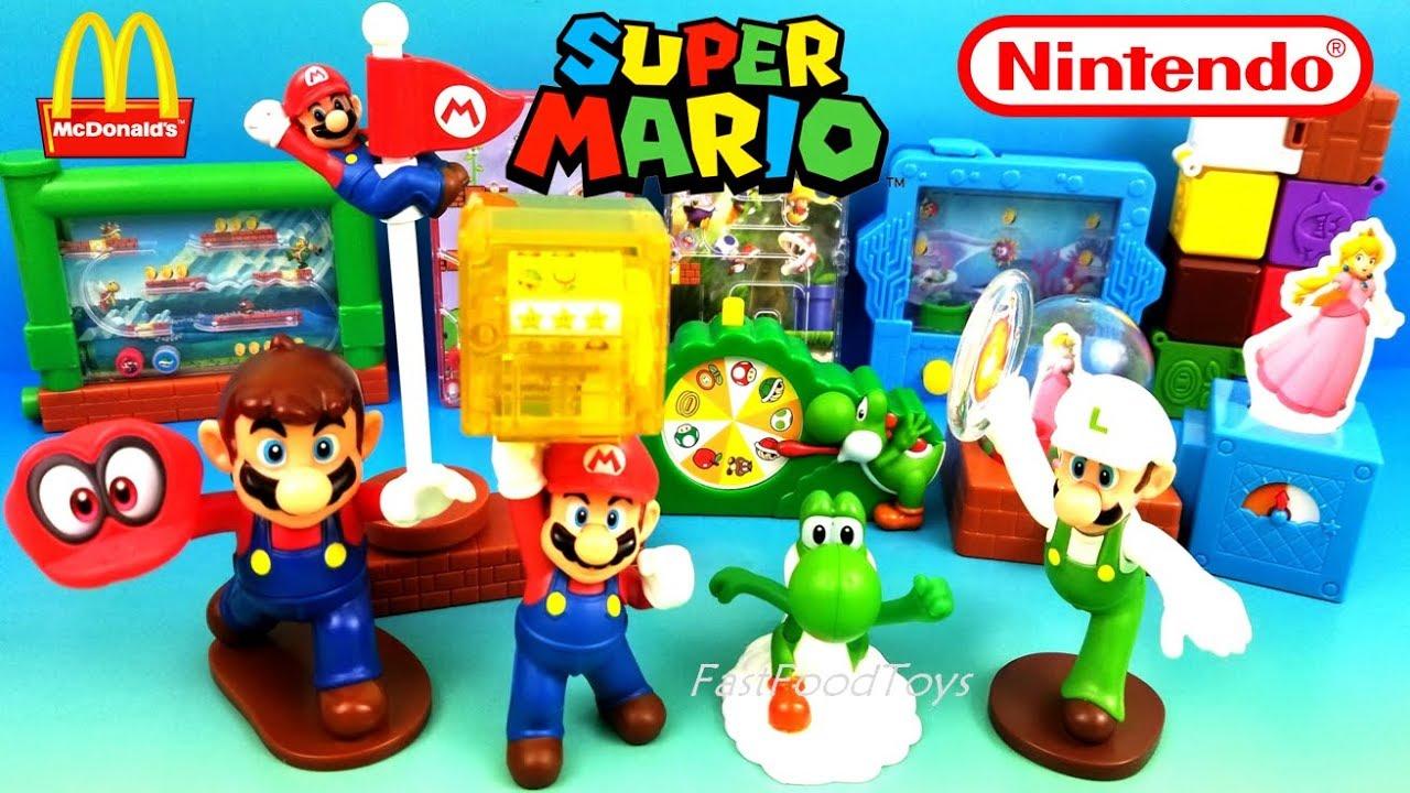 2018 Full World Set Mcdonalds Super Mario Happy Meal Toys