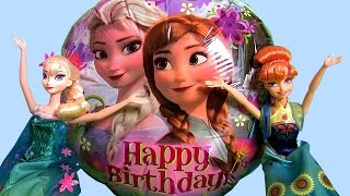 Giant HAPPY BIRTHDAY ANNA Balloon Surprise Disney Frozen Fever Toys, Clay-Buddies Peppa Pig