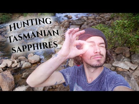 Beginners Luck!  Sapphire Hunting On The Weld River, Tasmania.