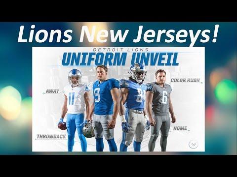 timeless design 48c88 ae51b Lions New Jerseys! - YouTube