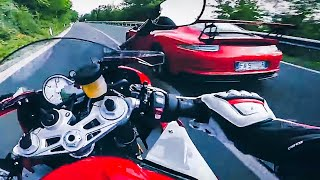 S1000RR CBR1000RR vs Ferrari 458 Italia F430 Spider California T Porsche GT3(MaxWrist BMW S1000RR hunts down some supercars for some action. Ferrari 458 Italia, F430 spider, California T, Porsche GT3 www.instagram.com/maxwrist ..., 2015-12-26T05:05:42.000Z)