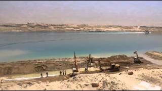 Suez Suez Canal: The scene for the new Suez Canal and building rock walls