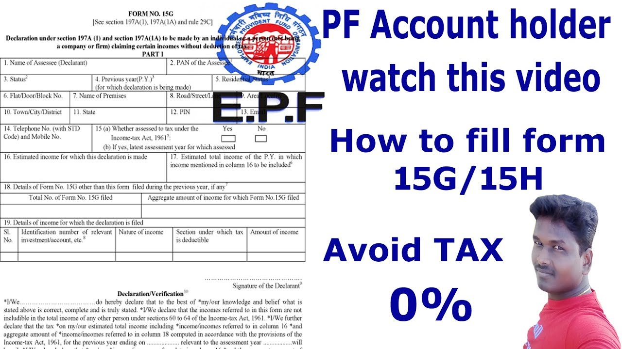 How To Fill Form 15g What Is Use For Form 15g Tech And Technics