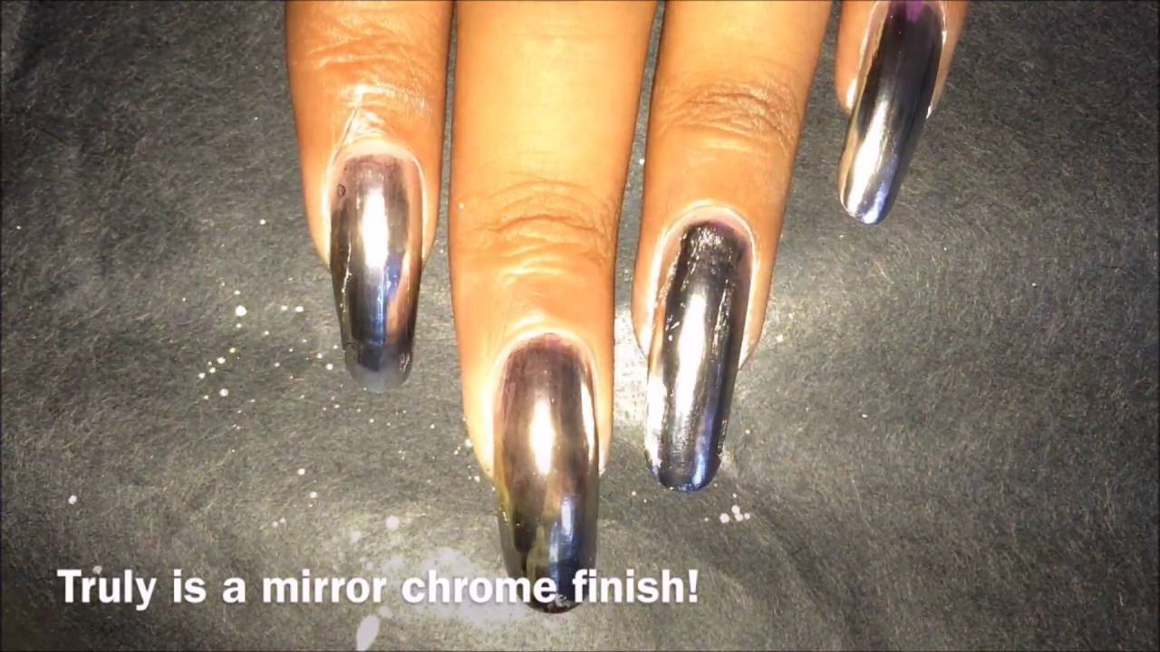 Chrome Mirror Nail Polish?!?! | Born Pretty Store Mirror Nail Polish ...