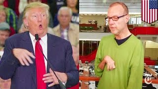 Donald Trump mocks Serge Kovaleski, John Kasich campaign ad compares Trump to Hitler - TomoNews