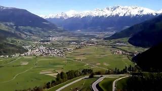 Val venosta from above burgusio