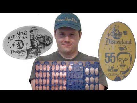 Disneyland 60th Anniversary Pressed Pennies and Quarters