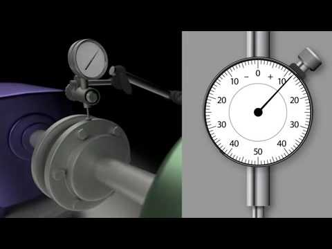 Measuring runout with a dial gauge