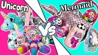 Would You Rather?! EASTER BASKETS CHALLENGE: Unicorn VS Mermaid LOTS OF TOYS!  LOL Surprise + More!