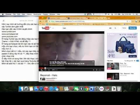 [Tutorial] Add Music Player To Tumblr - Cách thêm nhạc vào Tumblr [HD]