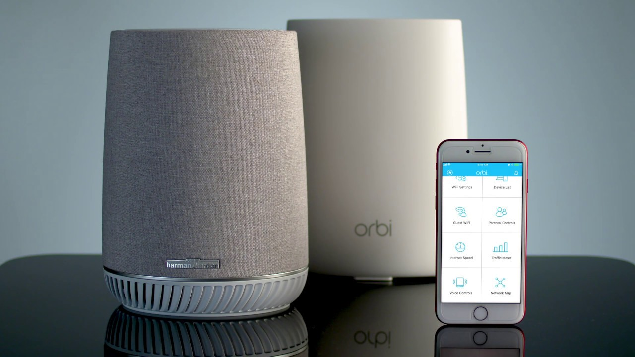 Netgear Orbi AC3000 Mesh Wi-Fi System and Orbi Voice Smart Speaker
