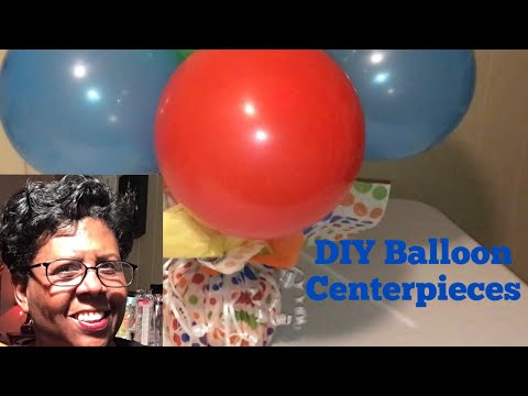 How To Make A Balloon Centerpiece On A Budget | All DIY by Mary Bet