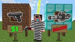 Дорогое или Дешевое Оружие в Майнкрафт ! Что Купит Преступник? Неудачник Нуб в Minecraft Мультик!