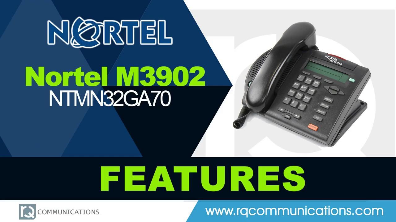 Nortel Meridian M3902 NTMN32GA70 Basic Digital Phone (Charcoal)