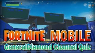 FORTNITE MOBILE #8 w/ Friends - QUIZ RUN!