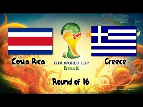 4 Costa Rica vs Greece   Round of 16   2014 World Cup Match Sims