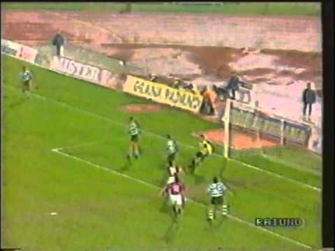 1991 March 6 Bologna Italy 1 Sporting Lisbon Portugal 1 UEFA Cup