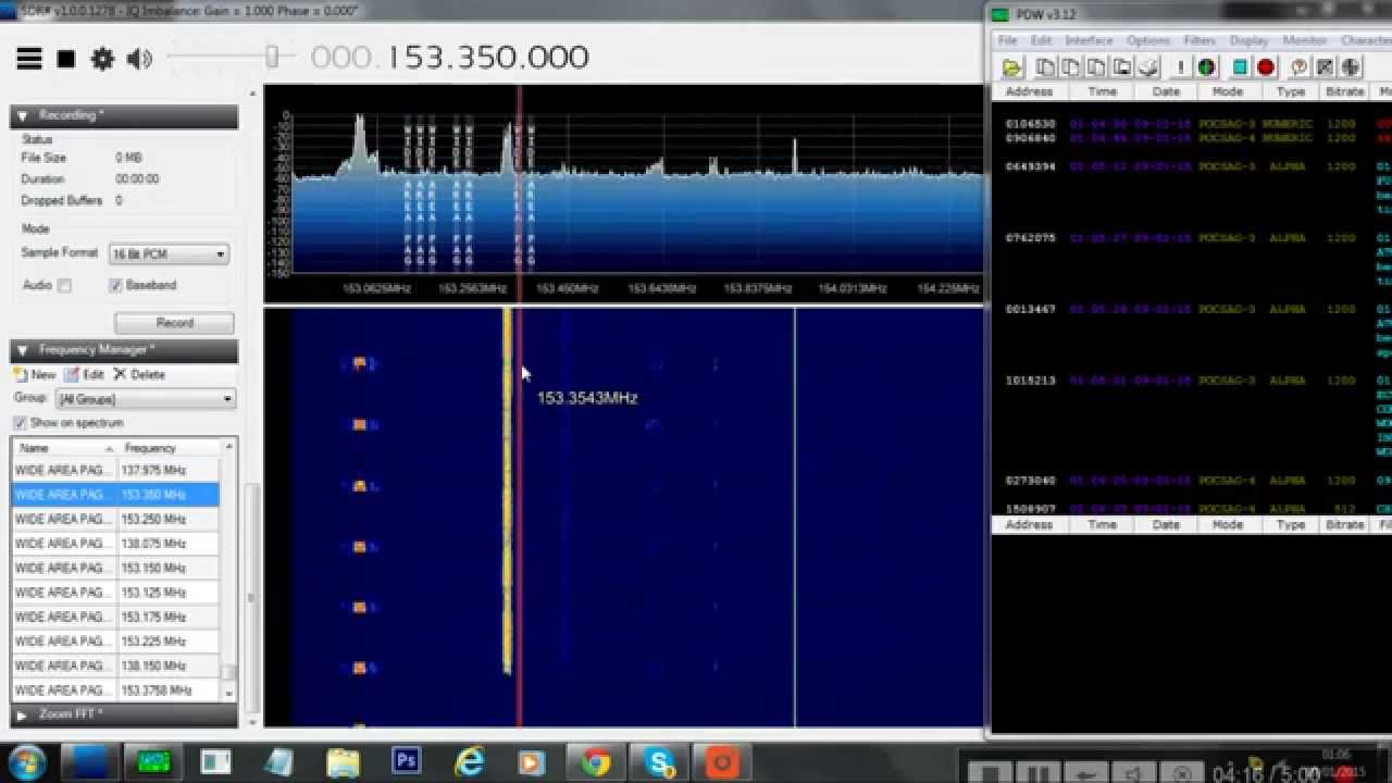 Decoding Pager Traffic With SDR# & PDW