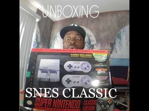 Finally unboxing the SNES CLASSIC edition/Review