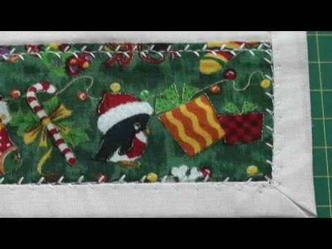 Patchwork, Tischdecke,Tischläufer für Weihnachten; Saum nähen - YouTube