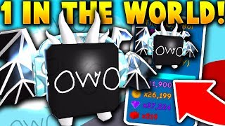 THERE IS ONLY ONE OF THIS PET IN THE WORLD! (*Shiny* OwOLord) - Roblox Bubble Gum Simulator