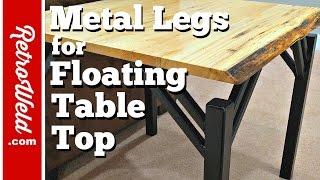 🔴 Metal Side Table Legs / Floating Table Top