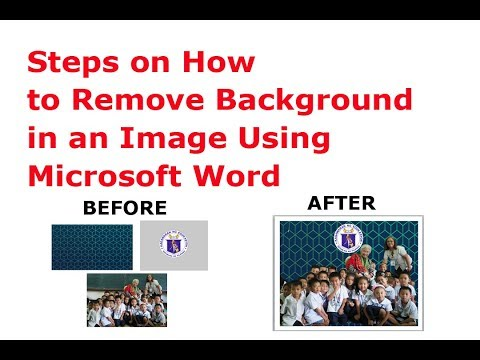 Steps on How to Remove Background in an Image Using Microsoft Word
