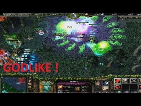 DotA 6.78c - Naga Siren, Slithice GODLIKE !