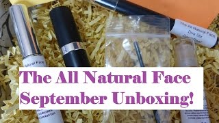 The All Natural Face - September 2014 Unboxing! Thumbnail