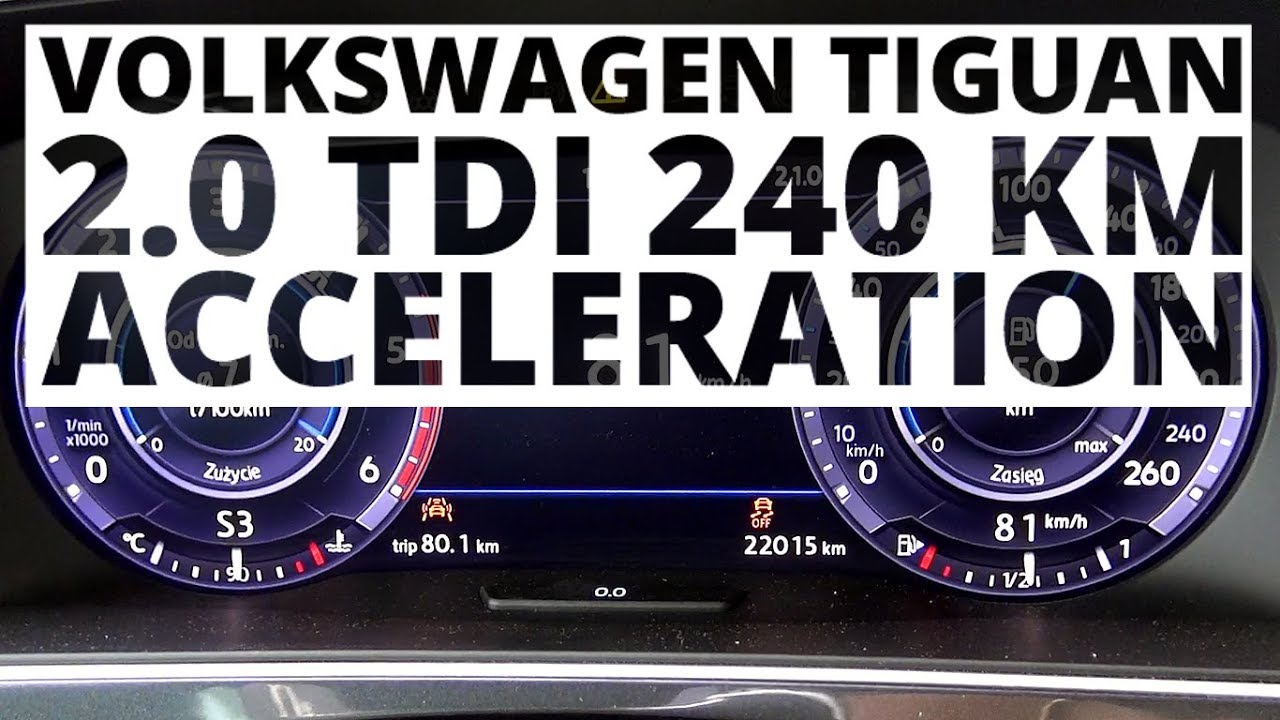 Volkswagen Tiguan 2.0 TDI 240 hp (AT) – acceleration 0-100 km/h