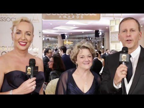 Bonnie Arnold  HFPA Red Carpet   Golden Globes 2015