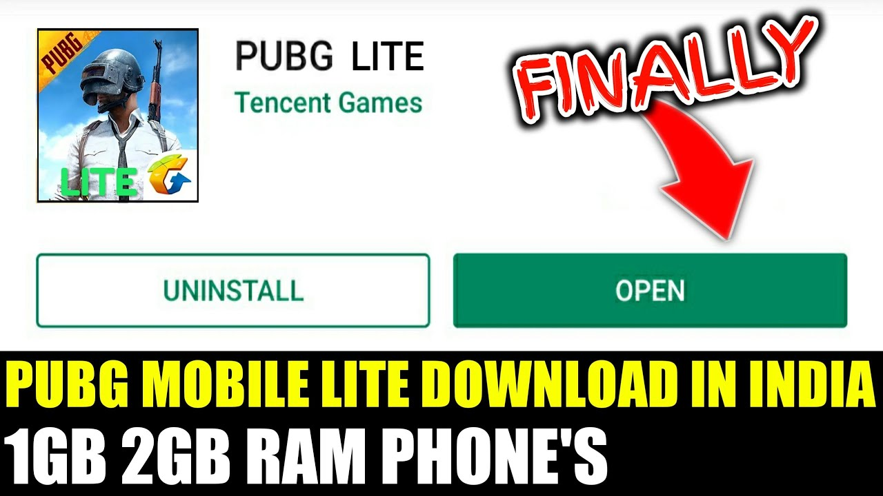 Finally PUBG MOBILE LITE launch in India | 1gb 2gb ram phone's - Thủ