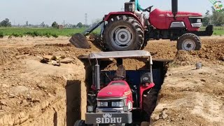Mahindra Arjun 555 DI tractor fully load Trailer Without JCB Machine | Come To Village