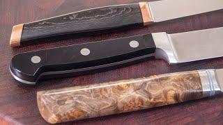 Три ножа которые должны быть на каждой кухне. Секреты острого ножа.