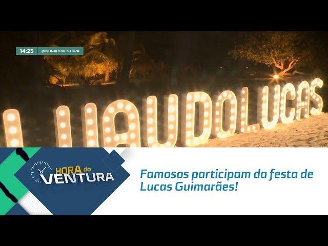 Famosos participam da festa de Lucas Guimarães! - Bloco 01