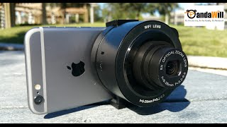 Video Amkov SP-W501 Wifi Camera Lens 14MP/1080P - Sony QX10 Clone - Android/iOS - Unboxing & Test! download MP3, 3GP, MP4, WEBM, AVI, FLV Mei 2018