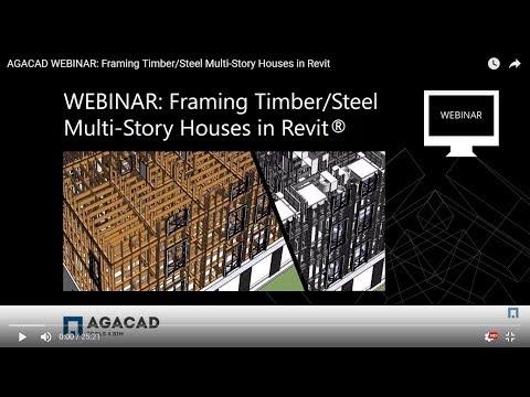 Framing Timber/Steel Multi-Story Houses in Revit