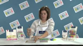 Tip of the Day: Faber-Castell on using Gelatos colors with mixed media stencils