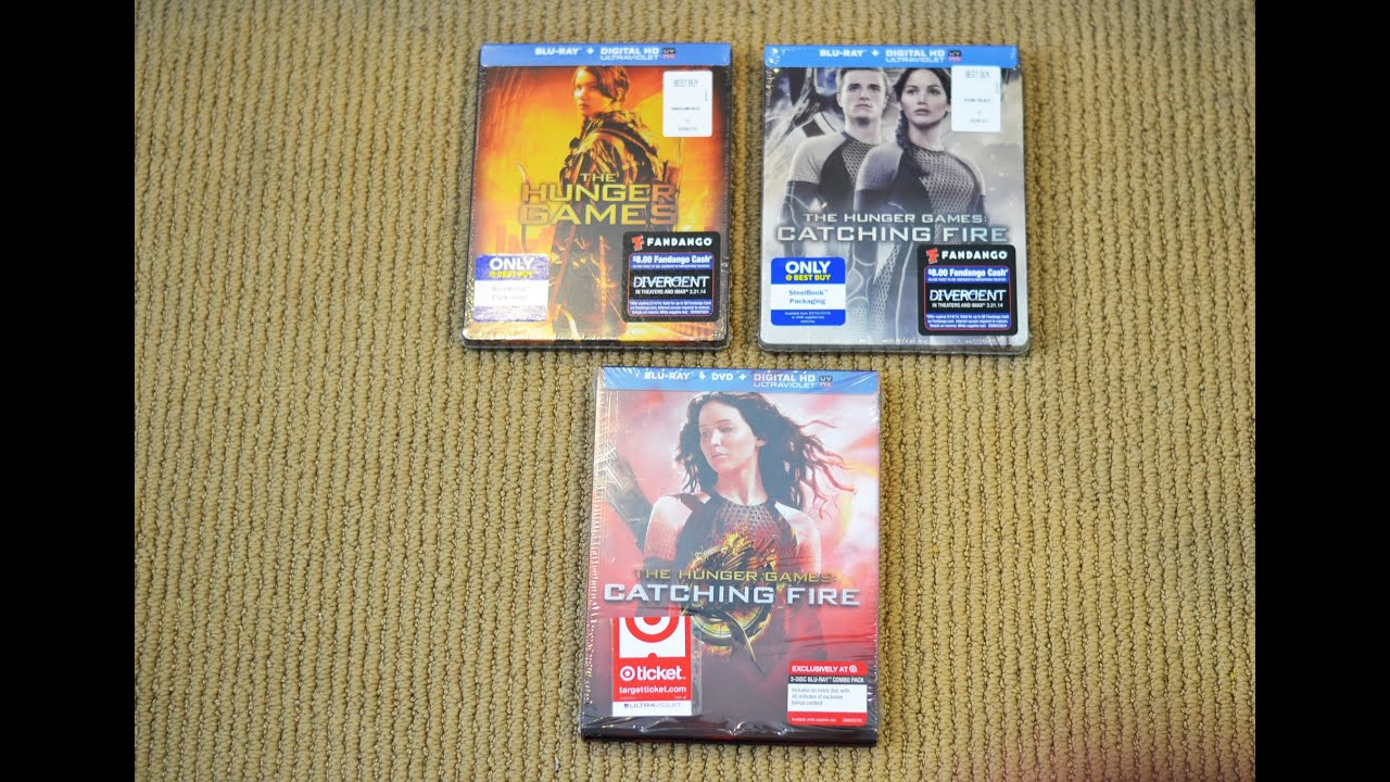 The Hunger Games Catching Fire Best Buy Steel Book Vs