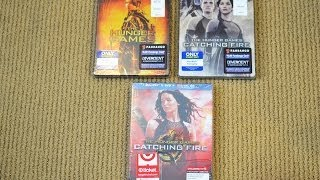 The Hunger Games CATCHING FIRE Best Buy Steel Book vs Target Exclusive BluRay with bonus Disc