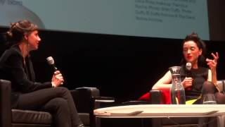 St Vincent with Jessica Hopper discussing David Bowie Is at the MCA 1 of 6