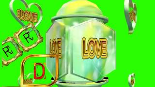 R Love D Letter Green Screen For WhatsApp Status | R & D Love,Effects chroma key Animated Video