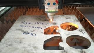 Durma Fiber Laser 20 mm Stainless Steel 6 kW Cutting Demonstration