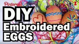 DIY Embroidered Eggs - Pinterest Test - Man Vs Pin #84